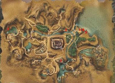 Chromaniny – mapa