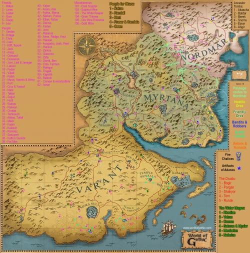 mapa, gothic 3, solucja