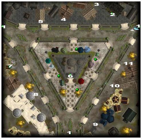 trójkątny targ