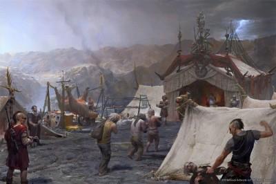 legion cezara, obóz
