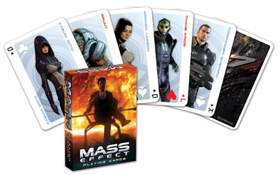 mass effect 2, karty do gry