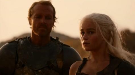 gra o tron, daenerys targaryen, jorah mormont, starcie królów