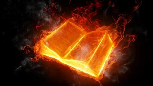 płonąca książka, dziennik