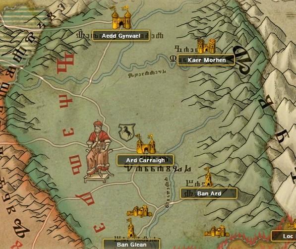 mapa kaedwen, kaedwen, mapa