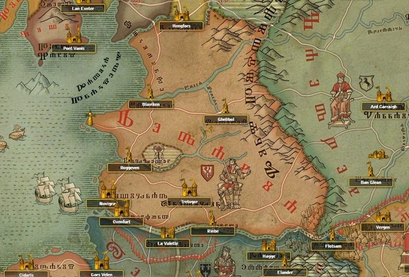 redania, mapa redanii, mapa