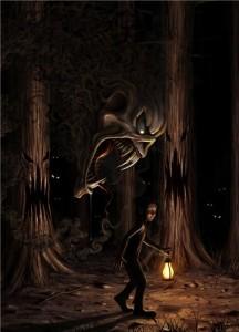 las, potwór