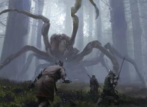 pająk, polowanie, monstrum