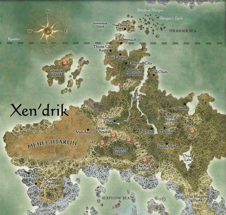 ebberon, xen'drik, map, drow