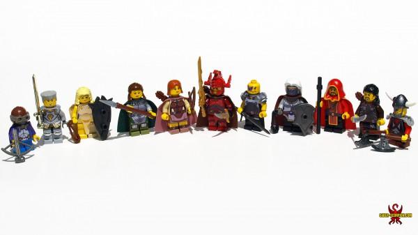 miniatury, lego, wrota baldura, baldur's gate