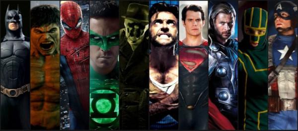 superbohaterowie, spider-man, hulk, batman, superman