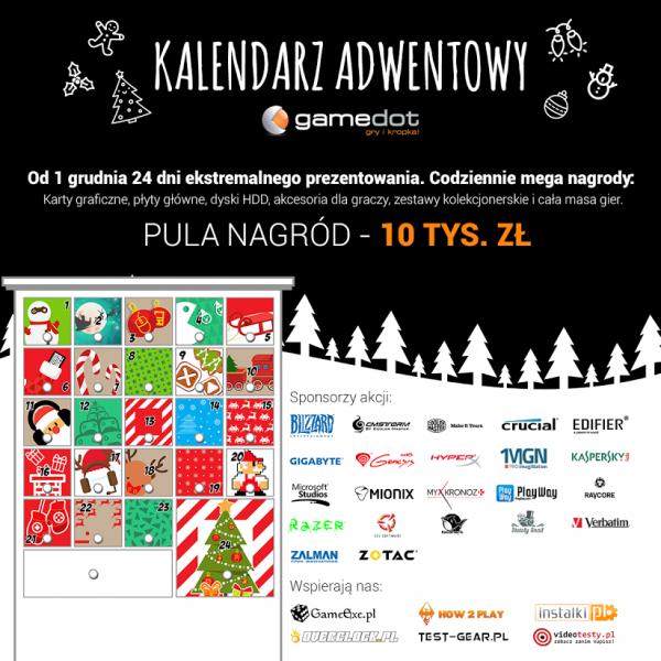 gamedot, kalendarz adwentowy