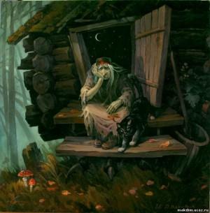 czarownica, chatka, kurza stopka