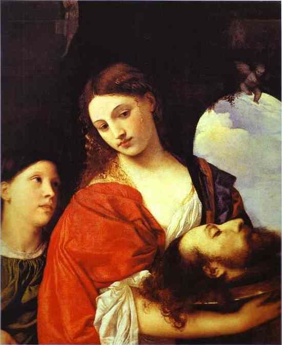 salome, jan chrzciciel, tycjan, 1512