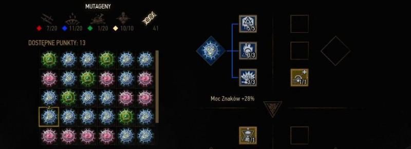 mutageny, mutageny wiedzmin 3