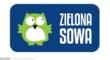 logo, zielona sowa
