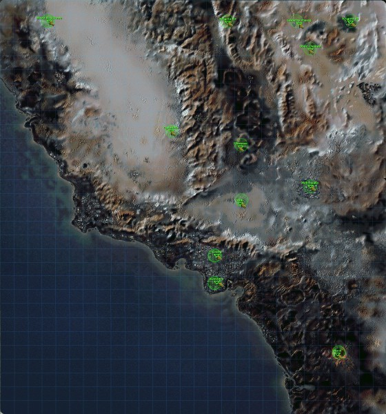 fallout, mapa, lokacje