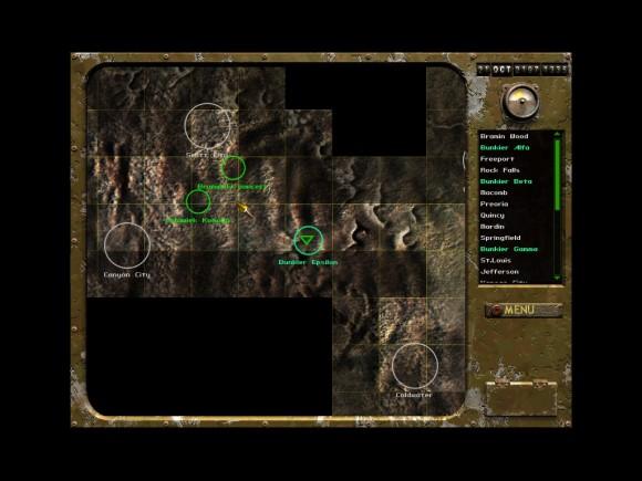 fallout tactics,mapa
