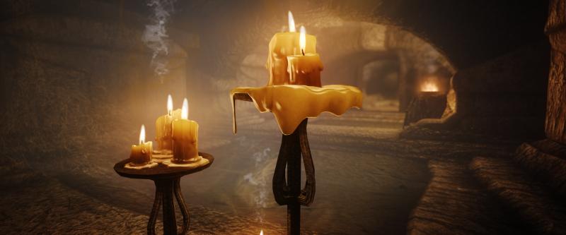 skyrim,świece