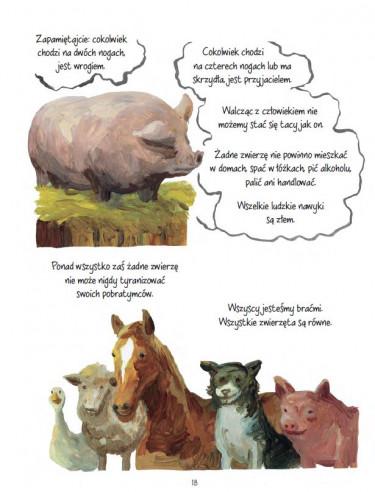 folwark zwierzęcy,komiks