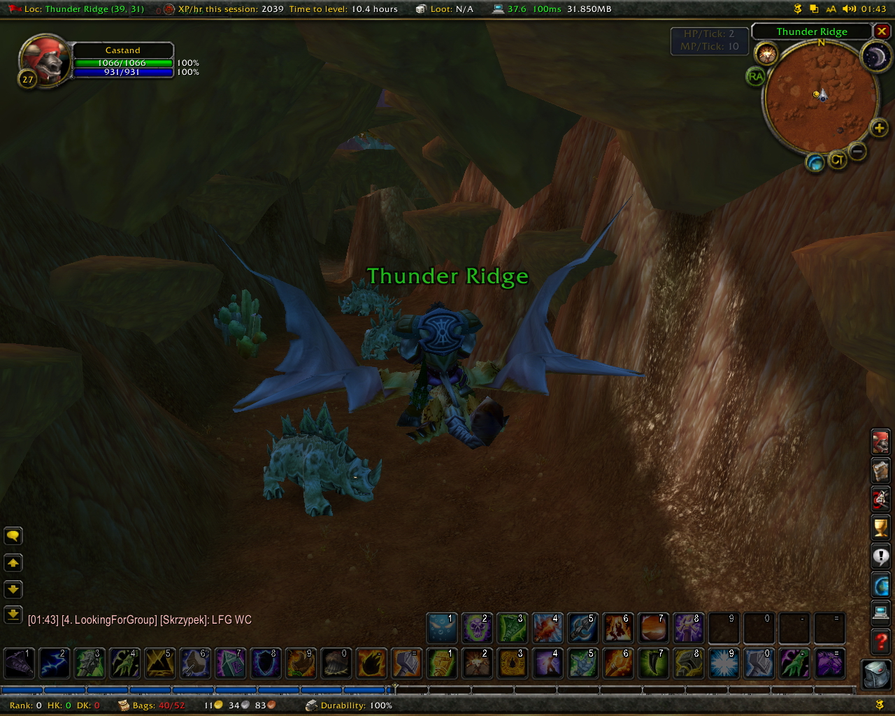 how to get to thunder bluff from stormwind