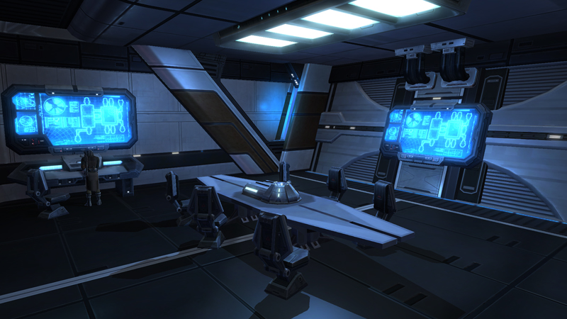 X 70b phantom statki star wars the old republic for Interieur vaisseau spatial